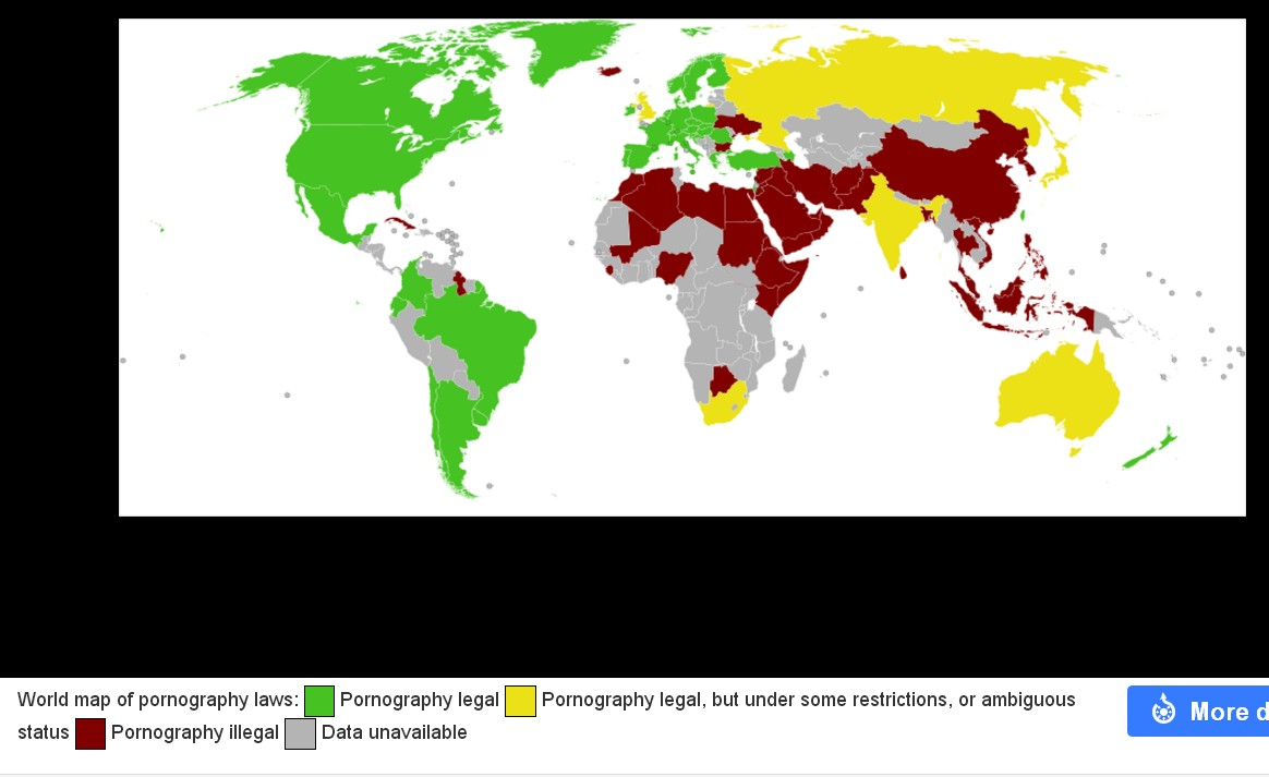 which countries outlaw pornography