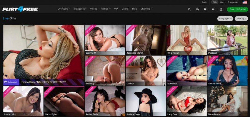 Flirt4free.com homepage